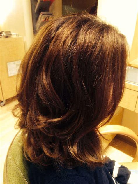 shoulder length hair with layers at bottom beautiful medium length layered hair cut hair