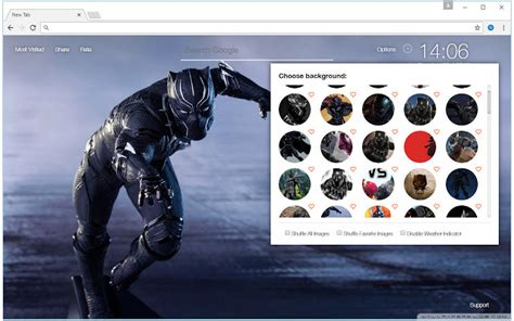 google themes marvel black panther wallpaper hd new tab themes chrome web store