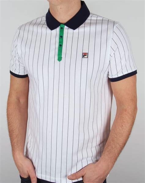 Polo Shirt Fila Keren Terlaris fila vintage mk1 settanta polo shirt white navy green matchday mens