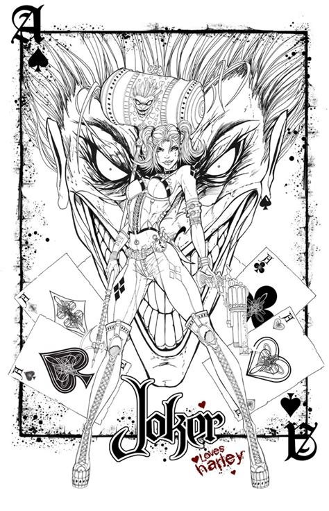 joker and harley quinn coloring pages stunning coloring