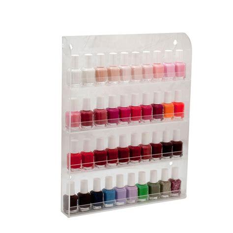Nail Display Rack by 40 Bottles Clear Acrylic Nail Salon Wall Display