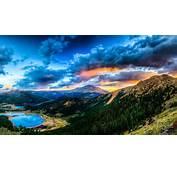 1920x1080 Gebirge Wald Himmel Wolken See Tal Full HD Hintergrundbilder
