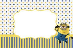 Tarjetas de cumpleanos de los minions 1 convite4 jpg