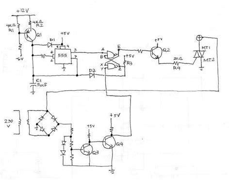 scr firing circuit diagram thyristor firing circuit industrial electronic components