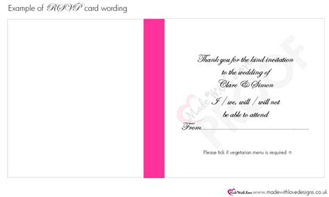 acceptance card template made with wording for rsvp cards wording templates