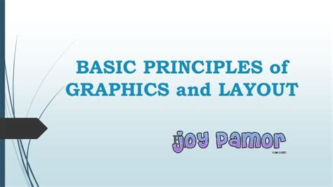 basics of graphic design layout basic principles of graphics and layout