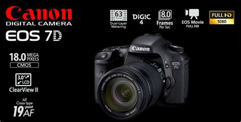 Spesifikasi Kamera Canon Eos 7d harga kamera dslr canon eos 7d dan spesifikasi terbaru