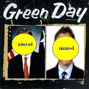Green Day Nimrod Cd album cover parodies of green day nimrod
