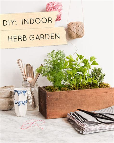how to make an indoor garden box 10 small space container and herb garden ideas 187 curbly