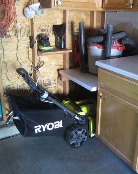 Garage Storage For Lawn Mower 25 Best Ideas About Garage Storage Solutions On