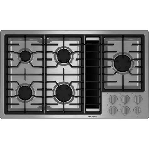 Downdraft Ventilation For Cooktops gas downdraft cooktop 36 quot jenn air