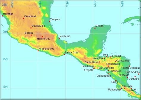 map of the country of mexico climatological information for mexico and neighbouring