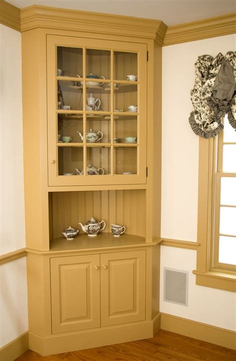 Kitchen Hutch Designs Custom Made Painted Colonial Style Corner Cabinet By Maple Tree Cabinetmakers Llc Custommade