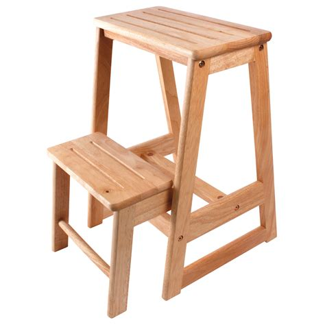 Wooden Stool With Steps by Coopers Of Stortford Two Step Wooden Stool From Coopers Of
