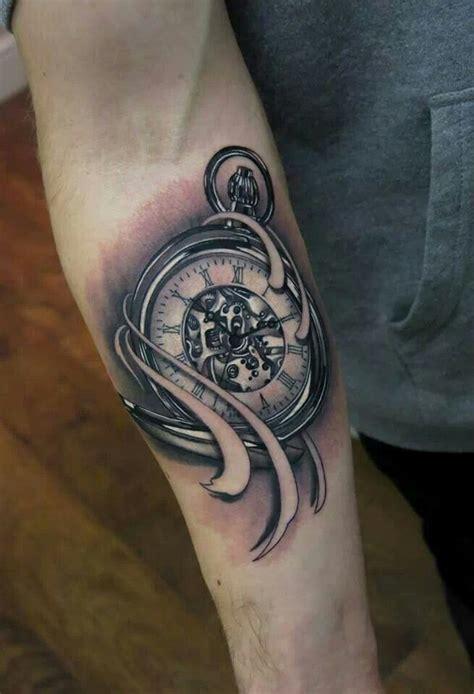 tattoo arm klok beautiful pocket watch tattoo klok tattoo pinterest