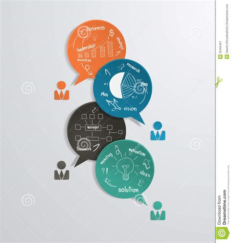 layout design strategy vector modern business bubble speech template with stock