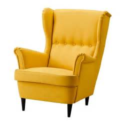 yellow armchairs strandmon wing chair skiftebo yellow ikea