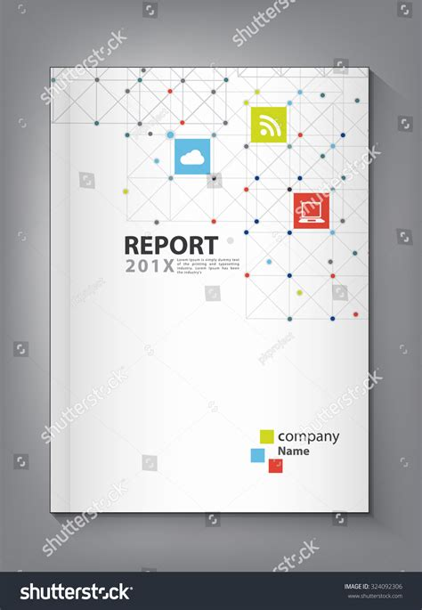 design concept report modern annual report cover design vector stock vector