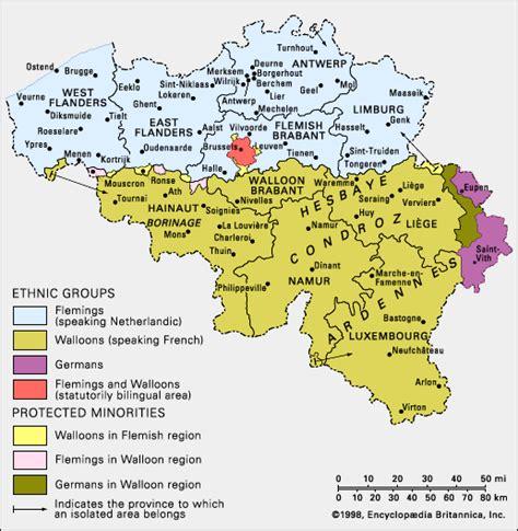 linguistic map of belgium belgium ethnic composition encyclopedia