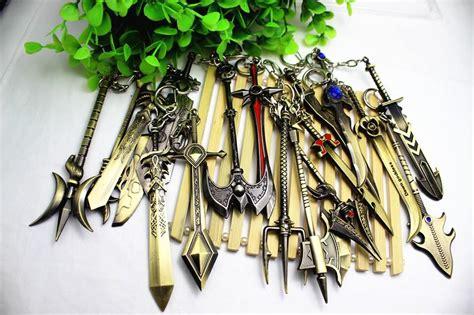 Dijamin Keychain Lol League Of Legend 3 lol league of legends keychain lol weapon keychain metal