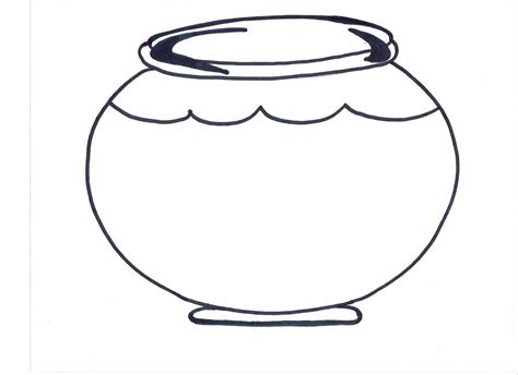 fish bowl coloring page printable goldfish bowl template