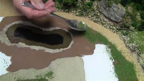 train layout water features basic model train scenery tutorial 4 creating a body of