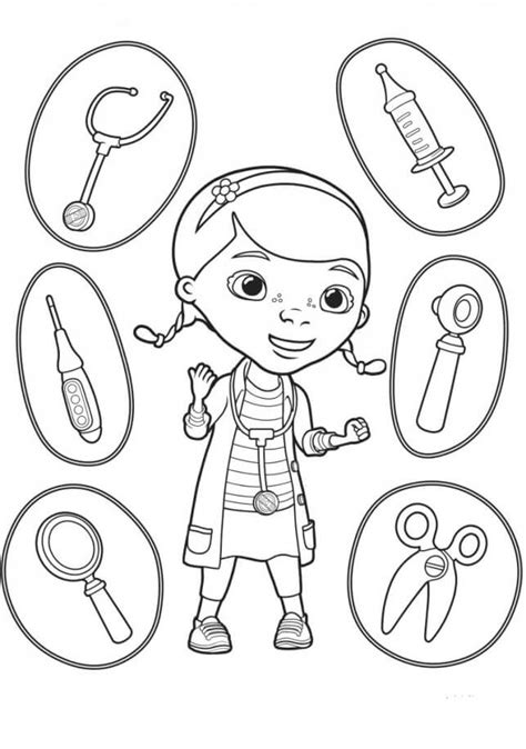 doc mcstuffin coloring pages free printable doc mcstuffins coloring pages