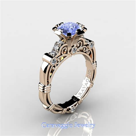 Light Sapphire Ceylon caravaggio 14k gold 1 25 ct light blue sapphire