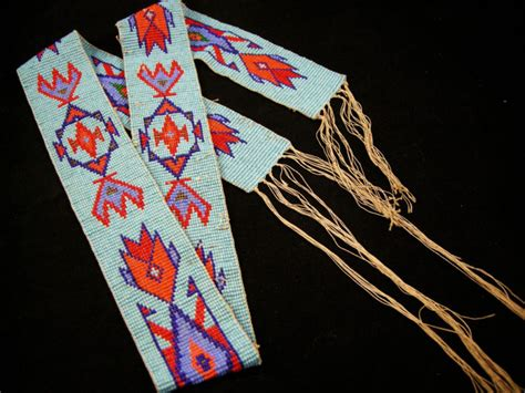 Native American Beadwork, moccasins, pipebags, medicine bags, gauntlets, knives and sheaths