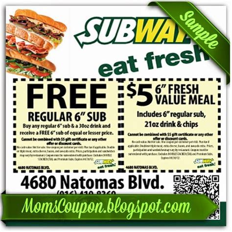 printable subway coupons december 2017 1000 images about coupon printable on pinterest code
