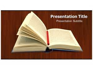 free powerpoint open book templates and backgrounds