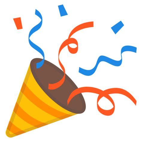 celebration emoji png cone de festa emoji
