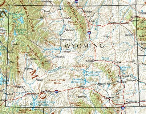 printable wyoming road map file wyoming ref 2001 jpg wikimedia commons