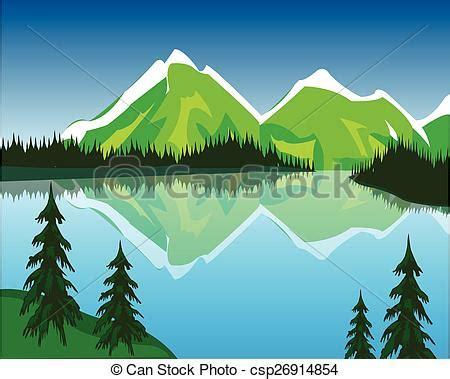 clipart montagna montagnes lac beau lac montagne illustration