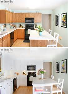 Kitchen cabinet makeover before and after
