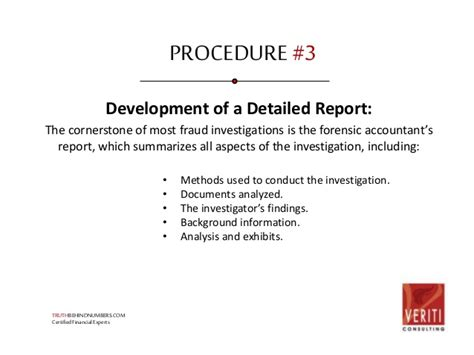 Bank Fraud Investigator by Fraud Investigation Process And Procedures