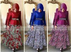 Gaun Batik gaun batik modern mira p873 busui - jual gamis batik online