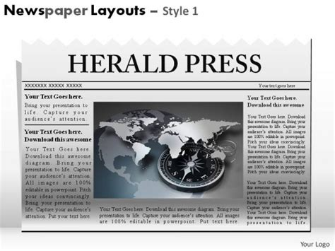 newspaper layout and design ppt newspaper layouts style 1 powerpoint presentation slides