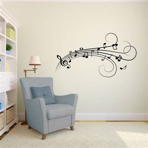 music notes wall decal modern decals beautiful pinterest home musical sticker