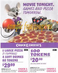 Coupons 100 tokens on tokens for chuck e cheese printable coupons