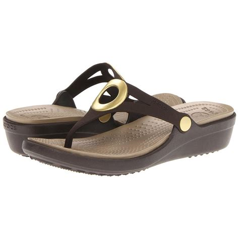 Sandal Wedges Flipflop Crocs Women S Sanrah Wedge Flip Flop Sandals
