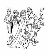 Coloriage des personnages de la reine des neiges au grand complet ...