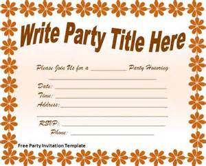 Free party invitation template free formats excel word