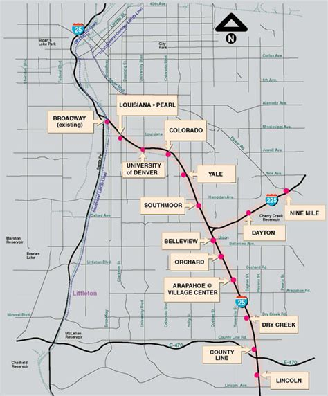 denver rtd light rail colorado light rail map arizona map