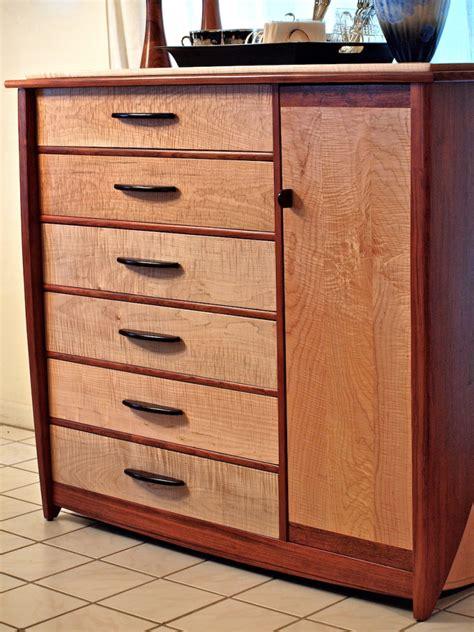 Handmade Dresser - custom handmade dresser in bubinga curly maple louis