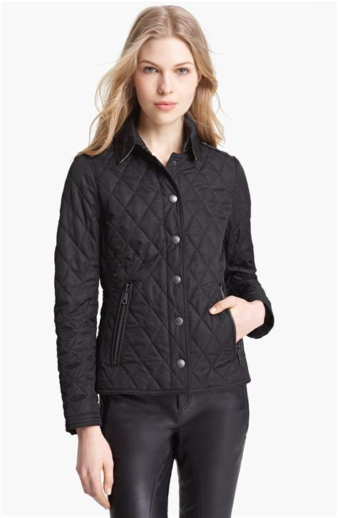 Quilted Jacket Burberry by Burberry Brit Mordale Quilted Jacket In Black Lyst