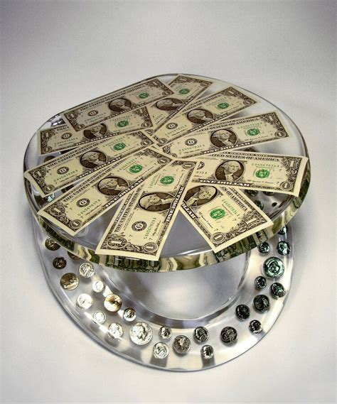 real  dollars coins money lucite resin toilet seat ebay