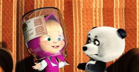 film kartun anak sofia gambar wallpaper masha dan panda dalam film kartun masha