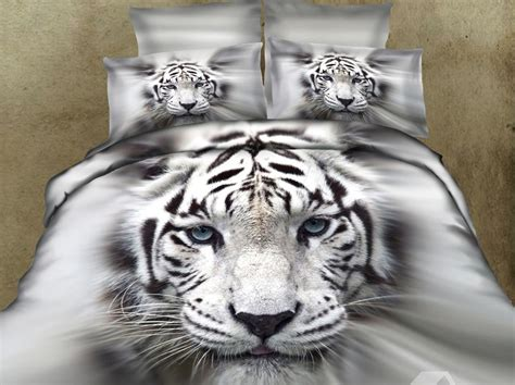 white tiger bed set splendid white tiger print photographic image comforter set