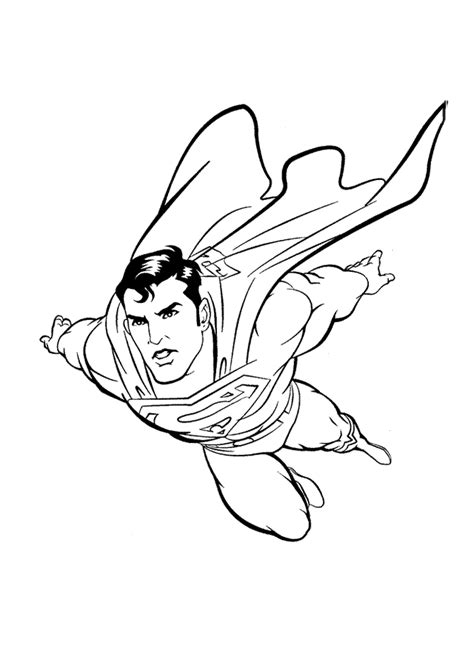 free coloring pages of superman symbol